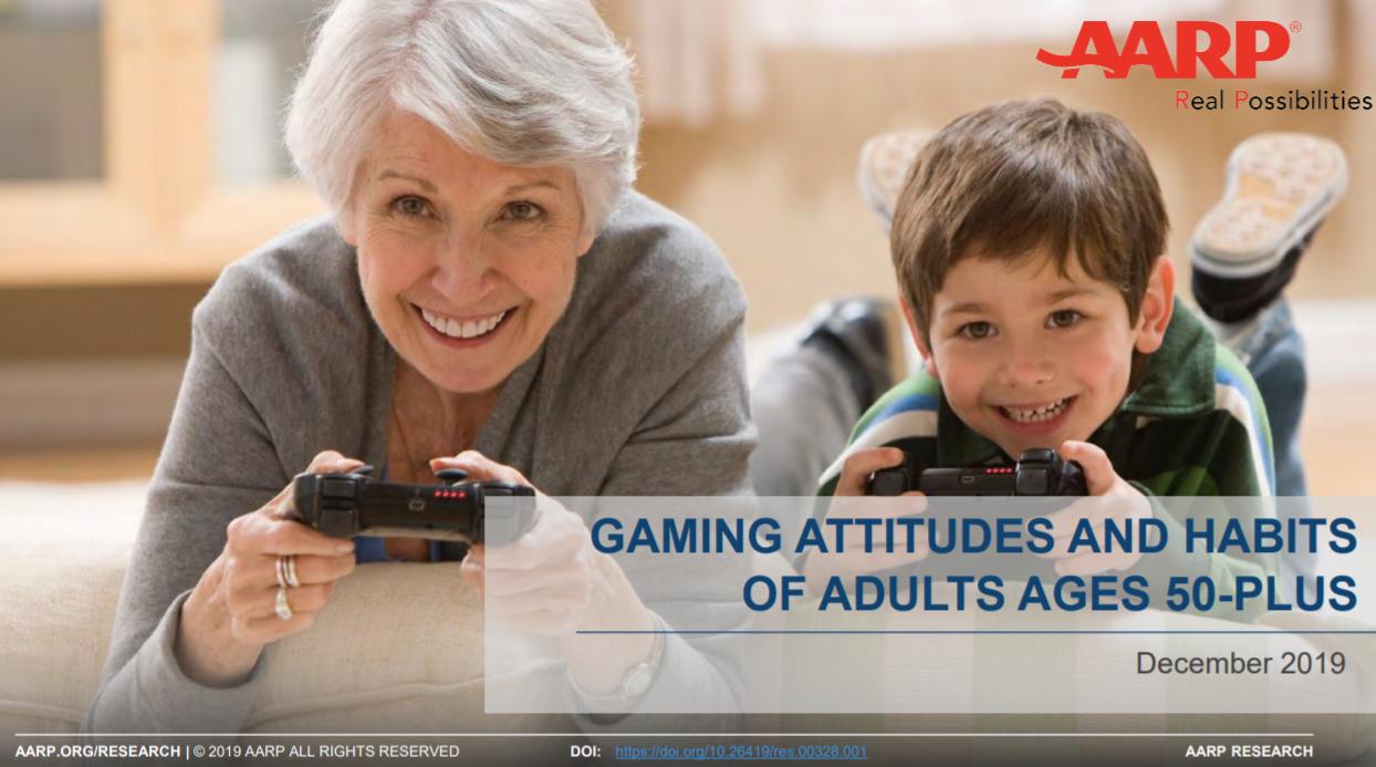 AARP onderzoek gaming 50-plussers