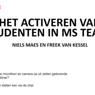 Webinar activeren van studenten in teams