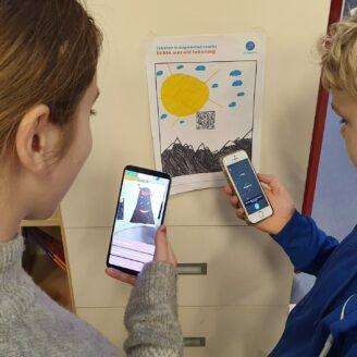 Leerlingen maken AR-experience