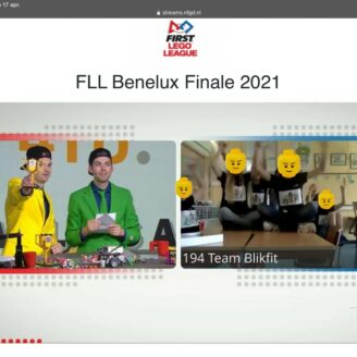 Team Blikfit wint 3e prijs core values bij FLL Benelux